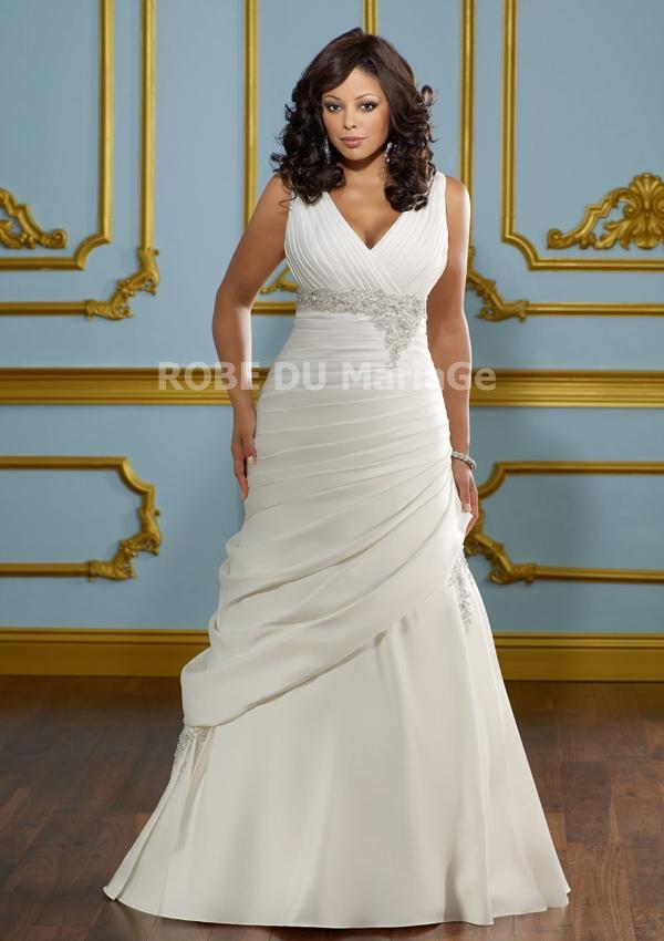 Modele de robe de mariee pour femme ronde